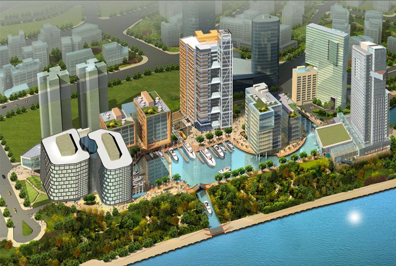 上海国际航运中心鸟瞰图